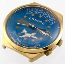 RAKETA Vtg Perpetual Calendar USSR Watch 16 jewels 2628.H AU Gold Plated CONDOR