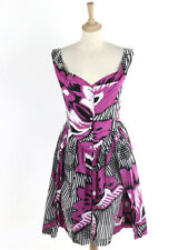 Vivienne Westwood Anglomania Womens Pink Floral Cotton Dress Size 44 (Uk 12)