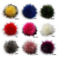 Colorful 10cm Faux  PomPom DIY Car Handbag Keychain Fluffy Ball Pendan Vh