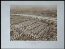LYON, MARCHE AUX BESTIAUX - 1909 - PLANCHE ARCHITECTURE - HALLE TONY GARNIER