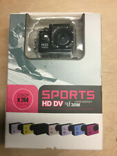 Sports HD DV Helmet Action Camcorder 1080P Water Resistant Mini Camera BLACK
