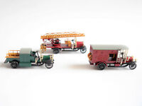 SET: 3x Magirus Feuerwehr Epoche I fire engine, Märklin #1893 in 1:87 boxed!