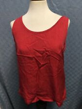 Tommy Bahama Sleeveless RED Top SILK Tank BLOUSE SIZE MEDIUM  CHEST 39""