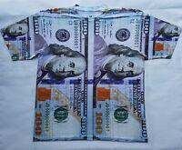 $100 Bill T Shirt  pantone powder galaxy legend bred money cash dollars