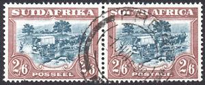 South Africa 1930-44 2s6d green & brown, SG.49, VFU, cat.£120