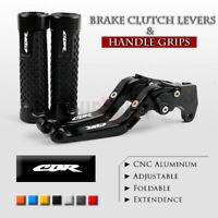 Folding Brake Clutch Levers Handle Grip for Honda CBR600RR F5 03-06 CBR954RR