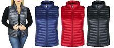 Piumino smanicato donna 100 grammi giacca giubbotto nero blu rosso grigio