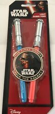 DISNEY STAR WARS PACK OF TWO LIGHT SABER PENS THE FIRST ORDER RULE THE GALAXY