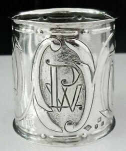 Welsh Art Nouveau Large Silver Napkin Ring, Thomas Henry Rothwell, London 1900