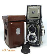 Rollei Rolleiflex Gris T K8 T1 Non metered Camera F3.5 75 mm Lens & Case