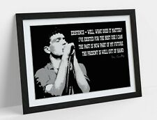 IAN CURTIS QUOTE -ART FRAMED POSTER PICTURE PRINT ARTWORK- BLACK & WHITE