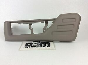2008-2010 Ford Super Duty Left Driver Gray Front Seat Shield Switch Bezel new OE