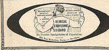 REMEDE D' ABYSSINIE EXIBARD PARIS RUE RICHELIEU PUBLICITE 1908