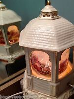2005 Thomas Kinkade ceramic gazebo music box night light lamp Canon In D Major