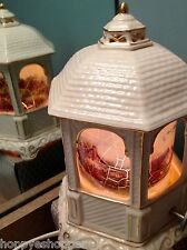 2005 Thomas Kinkade ceramic gazebo music box night light lamp Canon In D Major