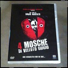 4 MOSCHE DI VELLUTO GRIGIO Dario Argento Bud Spencer DVD 1ª Stampa SIGILLATO