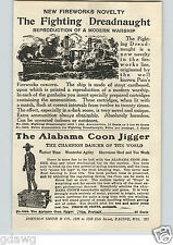 1920's PAPER AD The Alabama Coon Jigger Champion Dancer Machanical Toy Fireworks