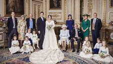 "PRINCESS EUGENIE & JACK BROOKSBANK ROYAL WEDDING FAMILY FRIDGE MAGNET 5"" X 3.5"""