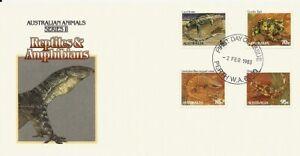 1983 Australia - Animals II Reptiles & Amphibians FDC  - FDI Perth WA 6000 PMK