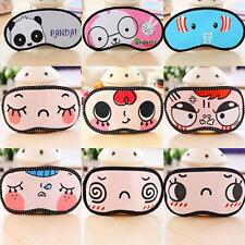 Cute Travel Cartoon Sleep Aid Eye Mask Blindfold Shade