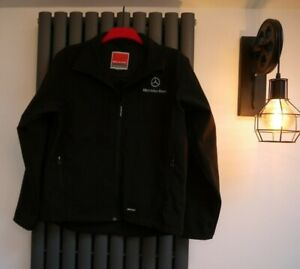 Mercedes Benz Result Performance black soft shell fleece lined jacket size Small
