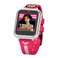 Wonder Woman Accutime Interactive Kids Watch Multi-Color