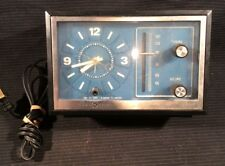 GE Vintage Alarm Clock Radio Wood Grain Bedside Model 7-4728A General Electric