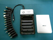 DIY Power bank with up to 6x 18650 batteries 3.7V-21V outputs+14 notebook plugs