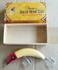 Vintage South Bend Teas Oreno #940 Wood Fishing Lure & Correct Box!