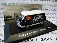 1/43 IXO Altaya Véhicules d'époque ITALIE FIAT 600 Furgone  AMARELLI