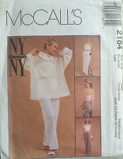 UNCUT SEWING PATTERN MCCALL'S 2184 SIZE 4 6 PULLOVER TOP HALTER PANTS SKIRT SEW