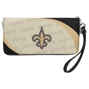 New Orleans Saints NFL Women's Curve Zip Organizer Wallet / Purse