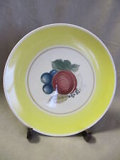 SUSIE COOPER CROWN WORKS FRUIT PATTERN YELLOW  DINNER PLATE   GOOD CONDITON