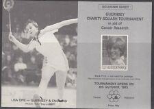 GUERNSEY: 1983 Charity Squash Tournament Souvenir Sheet never-hinged mint