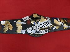 More details for wwe world heavyweight hardcore championship replica belt 2mm with free tshirt