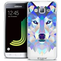 Coque Housse Etui Pour Samsung Galaxy J3 2016 (J320) Polygon Animal Rigide Fin L