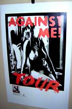 """AGAINST ME ! Tour Poster Original 2010 """"White Crosses"""" Sire Records Very COOL"""