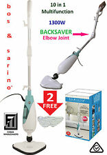 BOS & SARINO 10 in 1 Hot Steam Mop Shower Floor Mould Grout Great for Home