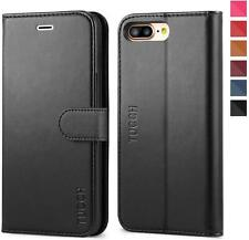 TUCCH Wallet Case For IPhone 8 Plus IPhone 7 Plus With Magnetic Closer - Black