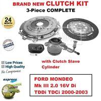 FOR FORD MONDEO III 2.0 16V Di TDDi TDCi 2000-2003 BRAND NEW 3PC CLUTCH KIT +CSC