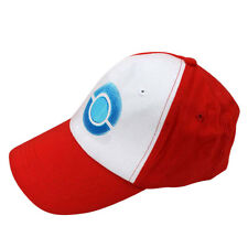 Anime Cosplay Pokemon Pocket Monster Ash Ketchum Baseball Trainer Cap Hat Red A