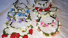 Joblot 20 pcs Mixed colour Flower Elasticated Headband wholesale