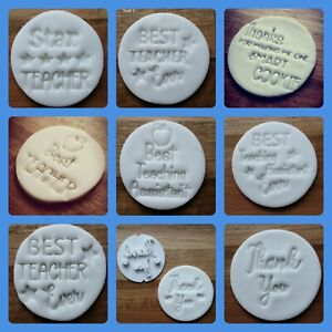 Teacher Gift Embossing cupcake and cake - stamps fondant Best Teacher Assistant