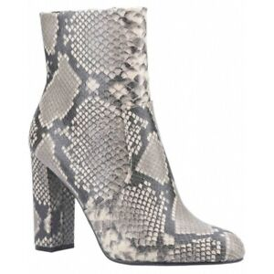 Steve Madden EDITOR Ladies Womens Genuine Leather Ankle Boots Natural/Snake