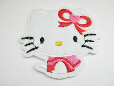 "Hello Kitty Patch Iron On Appliques  6cm (2 1/4"") Childrens Cartoon Cat Patches"