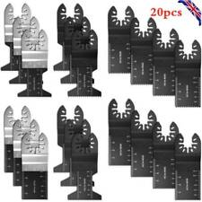 20pc Oscillating Multi Tool Saw Blades Set Carbide Blade Metal For Dewalt Makita