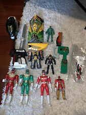 power rangers figure and weapons lot