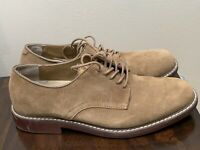 G. H. Bass & Co. Mens Beige Genuine Leather Suede Oxford Shoes Sz 9.5 M Brockton