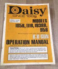 Vintage Daisy BB Gun Operating Manual for Models 105B 111B 1938B 95 B >