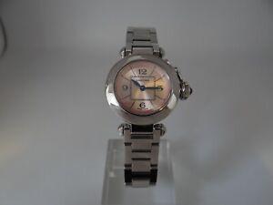 Cartier Pasha Ladies 2973 Pink Dial Stainless Steel Quartz 27mm
